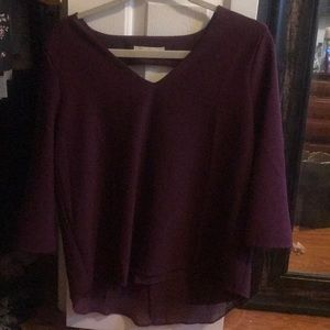 Plum top with keyhole back